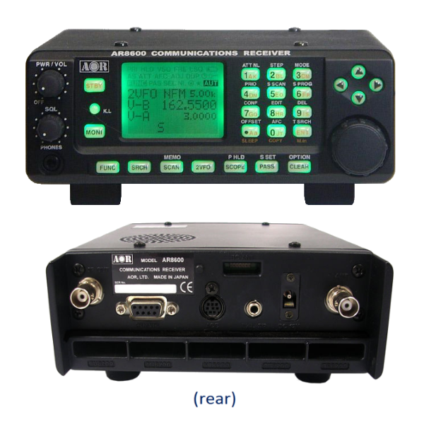 AOR Portable/Base Receivers - Details